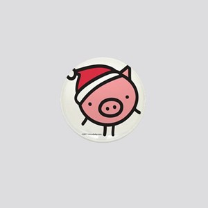 pig_santa Mini Button